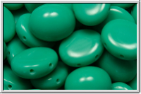 Candy-Beads®, oval, PRECIOSA, 10x12mm, turquoise, op., 10 Stk.