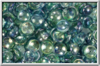 Piggy Beads, 4x8mm, clear, blue/green luster, 25 Stk.