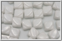 SILKY-Beads, 6x6mm, white, op., 25 Stk.